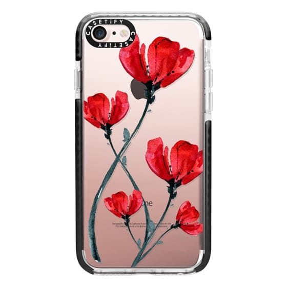 iPhone 7 Cases - Red Poppy. Summer flowers I