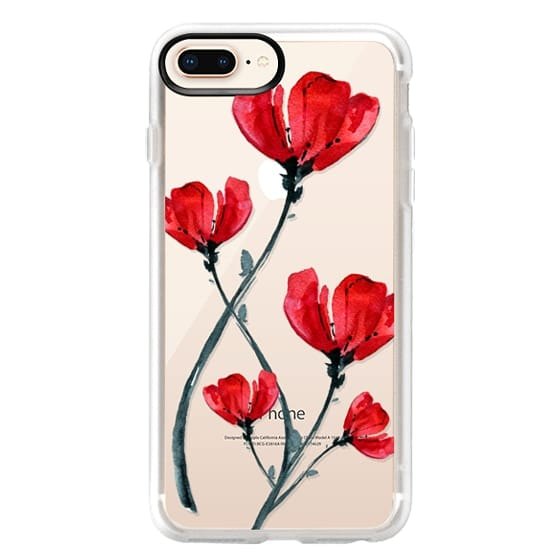 iPhone 8 Plus Cases - Red Poppy. Summer flowers I