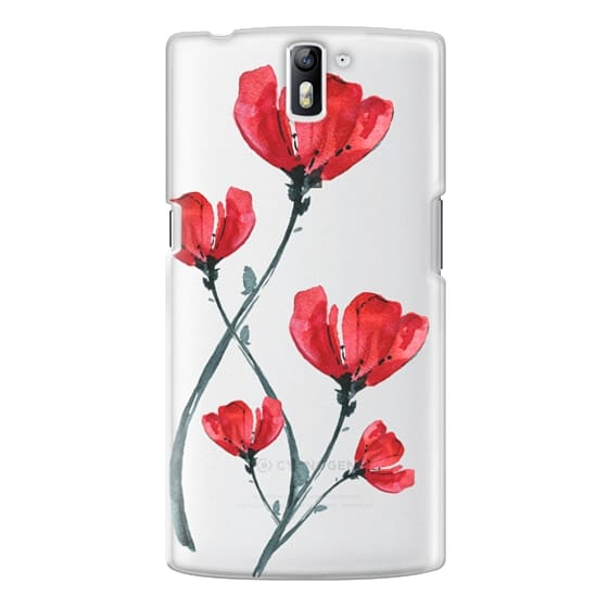 One Plus One Cases - Red Poppy. Summer flowers I