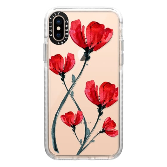 iPhone XS Cases - Red Poppy. Summer flowers I