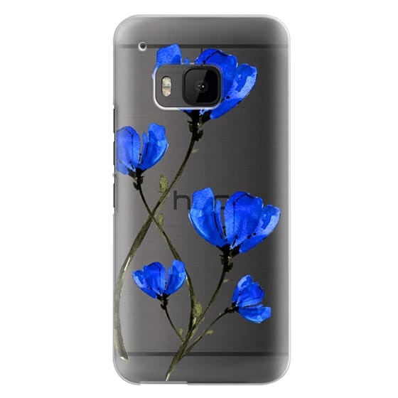 Htc One M9 Cases - Blue Poppy. Anemones. Summer flowers