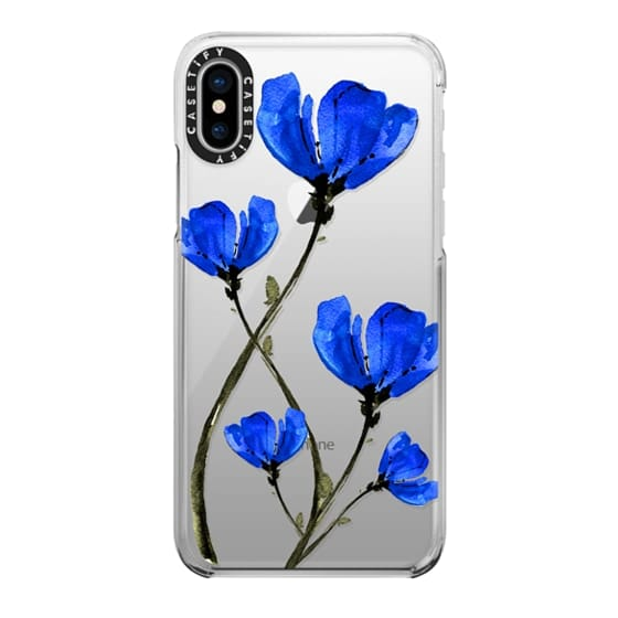 iPhone X Cases - Blue Poppy. Anemones. Summer flowers