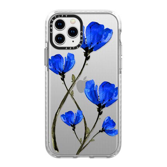 iPhone 11 Pro Cases - Blue Poppy. Anemones. Summer flowers