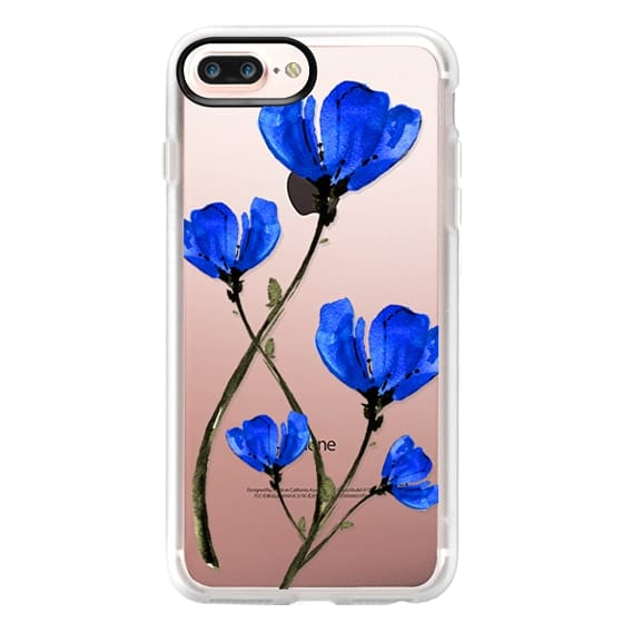 iPhone 7 Plus Cases - Blue Poppy. Anemones. Summer flowers