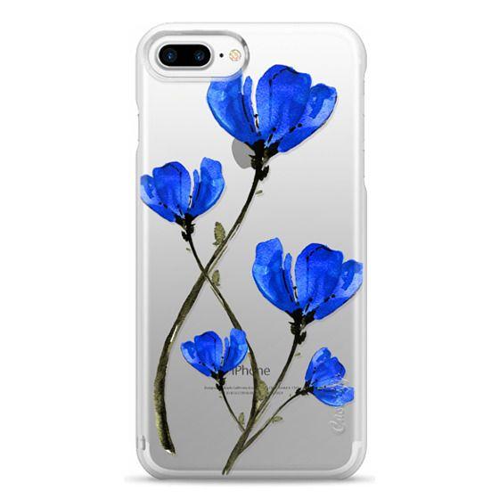 iPhone 7 Plus Cases - Blue Poppy. Anemones. Summer flowers