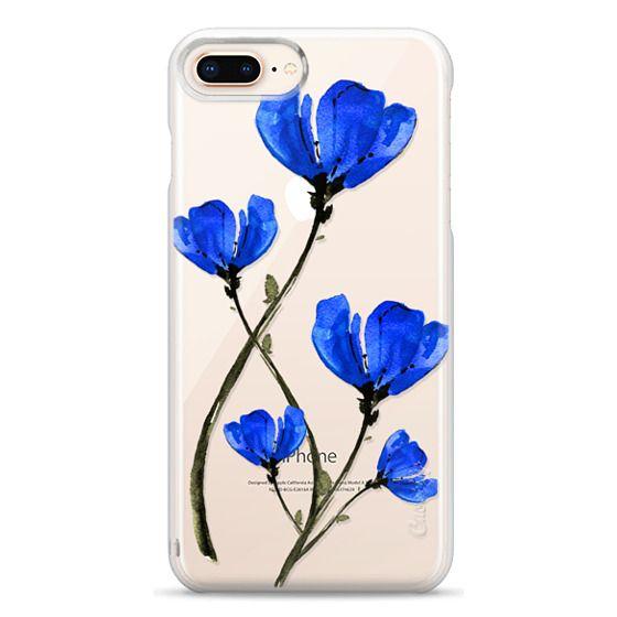 iPhone 8 Plus Cases - Blue Poppy. Anemones. Summer flowers