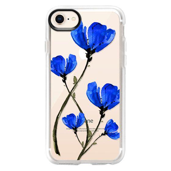 iPhone 8 Cases - Blue Poppy. Anemones. Summer flowers