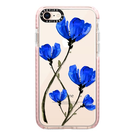 iPhone 8 Cases - Blue Poppy. Anemones. Summer flowers