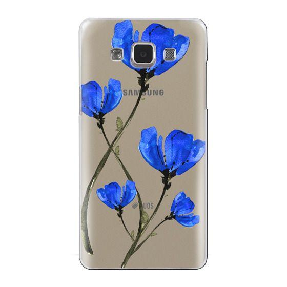 Samsung Galaxy A5 Cases - Blue Poppy. Anemones. Summer flowers