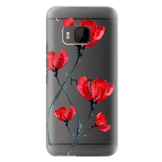 Htc One M9 Cases - Red Poppy. Summer flowers I