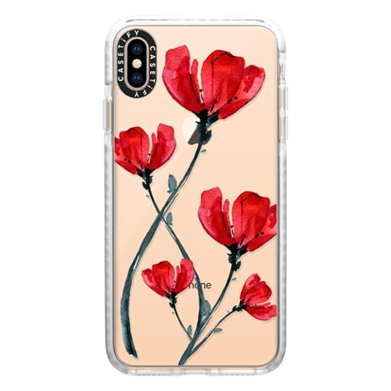 iPhone XS Max Cases - Red Poppy. Summer flowers I