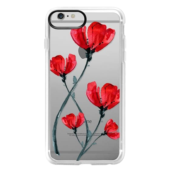 iPhone 6 Plus Cases - Red Poppy. Summer flowers I