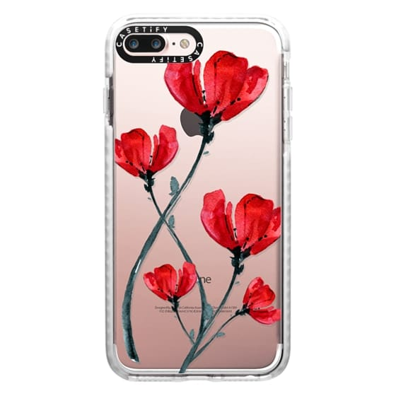iPhone 7 Plus Cases - Red Poppy. Summer flowers I