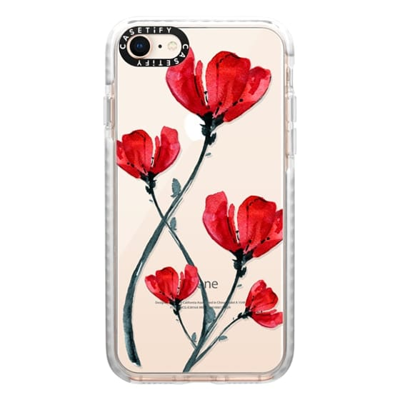 iPhone 8 Cases - Red Poppy. Summer flowers I