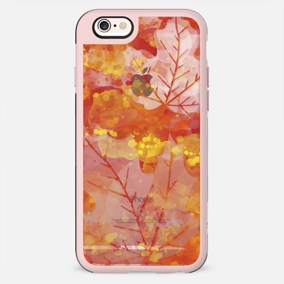 Abstract Autumn, Watercolor Fall Leaves - New Standard Case
