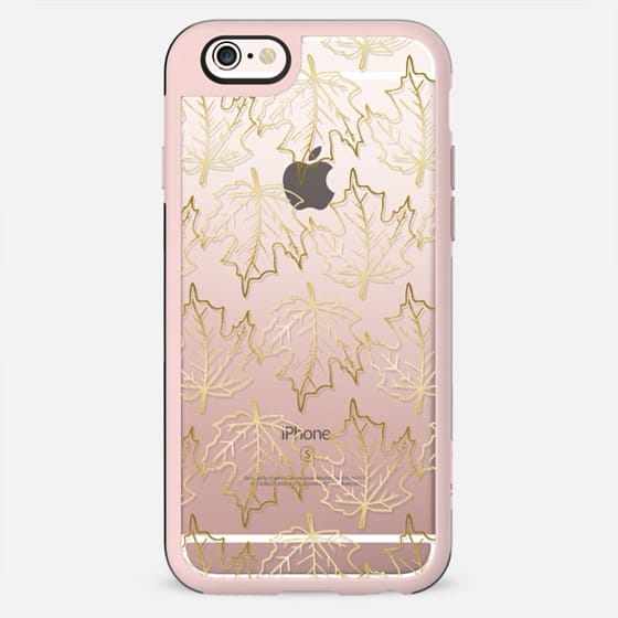 Gold Leaves, Fall / Autumn Pattern - New Standard Case