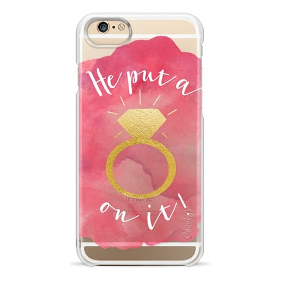 iPhone 6s Cases - Ring On It     Pink Gold Watercolor   Bride, Wifey, Mrs., Wedding