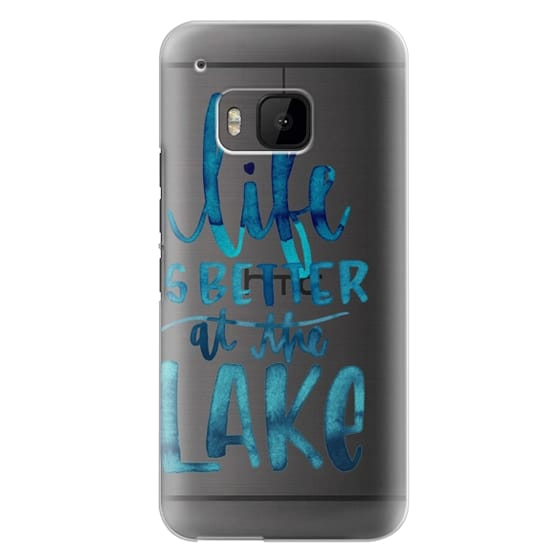 Htc One M9 Cases - Life is Better at the Lake | Watercolor | Hand Drawn Typography | Blue | Summer