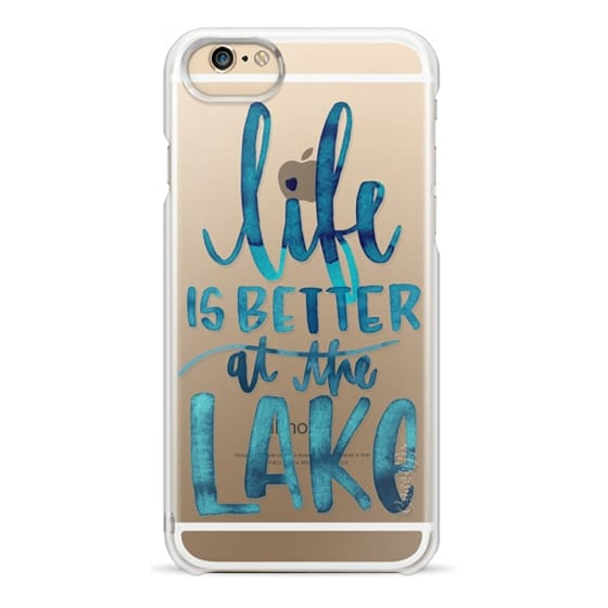 iPhone 6 Cases - Life is Better at the Lake | Watercolor | Hand Drawn Typography | Blue | Summer
