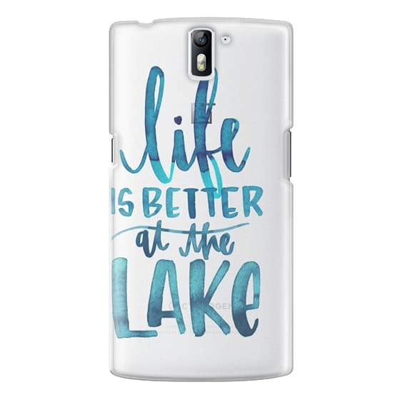 One Plus One Cases - Life is Better at the Lake | Watercolor | Hand Drawn Typography | Blue | Summer