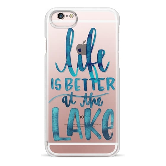 iPhone 6s Cases - Life is Better at the Lake   Watercolor   Hand Drawn Typography   Blue   Summer