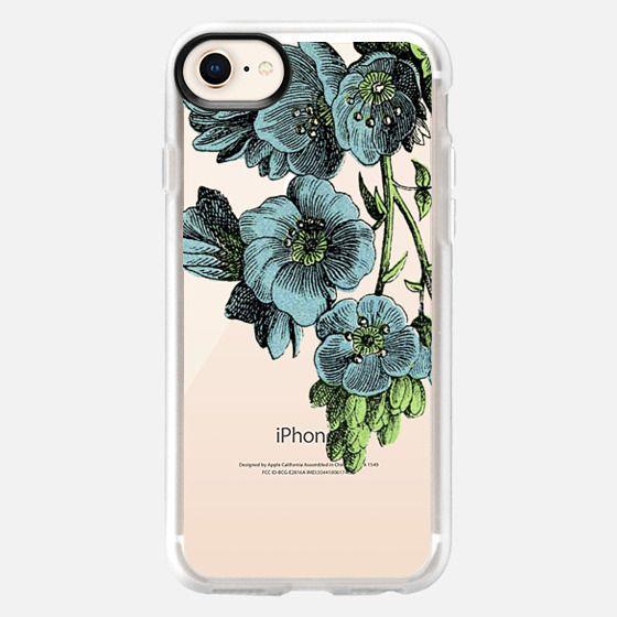 Blue Floral Illustration - Snap Case