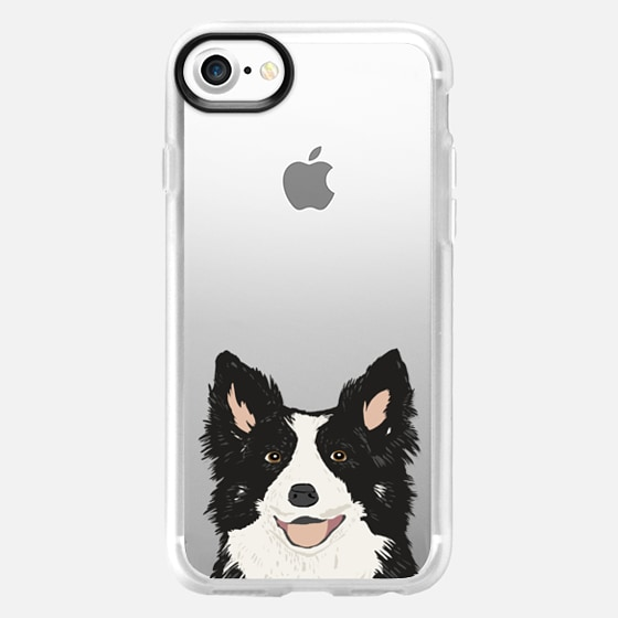 Border Collie Transparent Cell Phone Case for iPhone - Wallet Case
