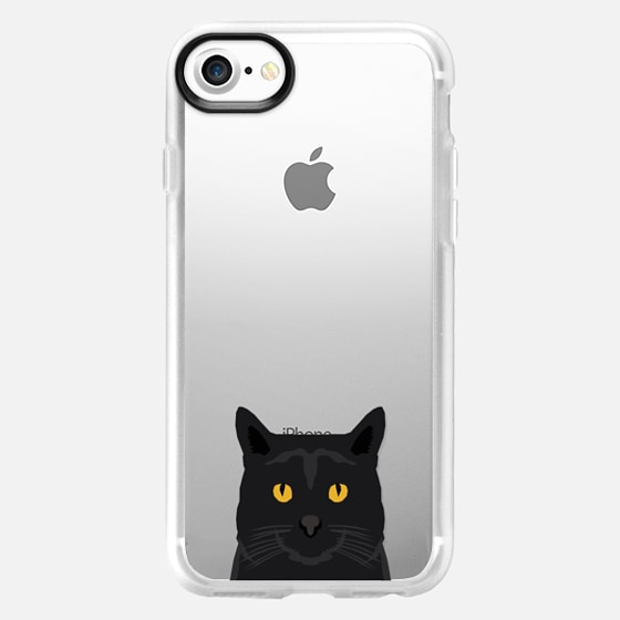 Cute black cat gift idea for cat lady cat person kitten clear cell phone case iphone6 - Wallet Case