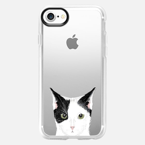 Cute Cat - Grey, black and white cat for cat ladies and cat people iphone 6 transparent case for cat lovers - Classic Grip Case