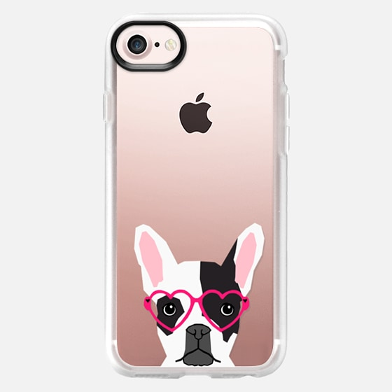 Black and White french bulldog frenchie pet owners cell phone case transparent iphone6 case pet friendly - Wallet Case