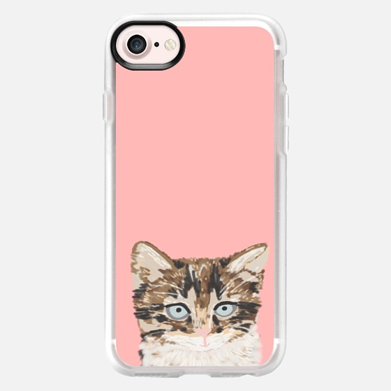 Sweet Kitten pastel pink iphone6 cell phone case cat lady gifts just for cat people tabby kitten - Wallet Case