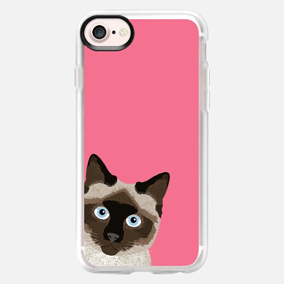 Peeking Siamese Cat hot pink bright neon cell phone iphone6 case trendy hipster cat lady -