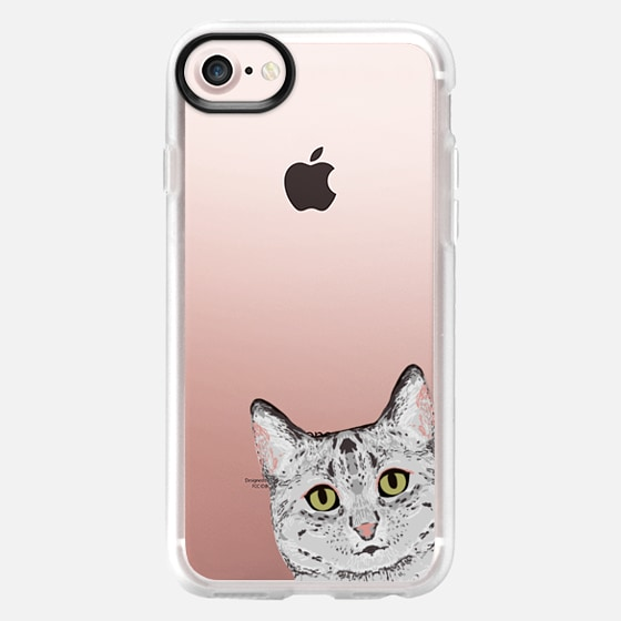 Peeking Egyptian Mau grey cute funny cat face cell phone iphone6 transparent cat case - Wallet Case