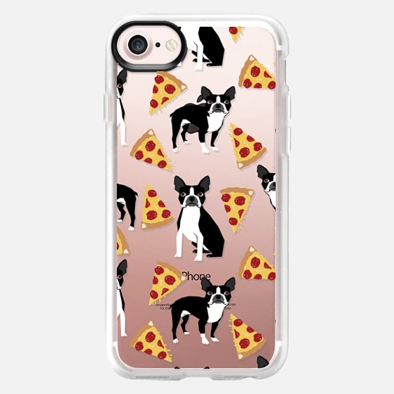 Boston Terrier Pizza - cute funny boston terrier owner phone case pizza - Wallet Case