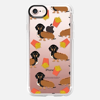iPhone 7 Case Dachshund cute hot dog and french fries junk food moxie owners must haves iphone6 transparent pet portraits