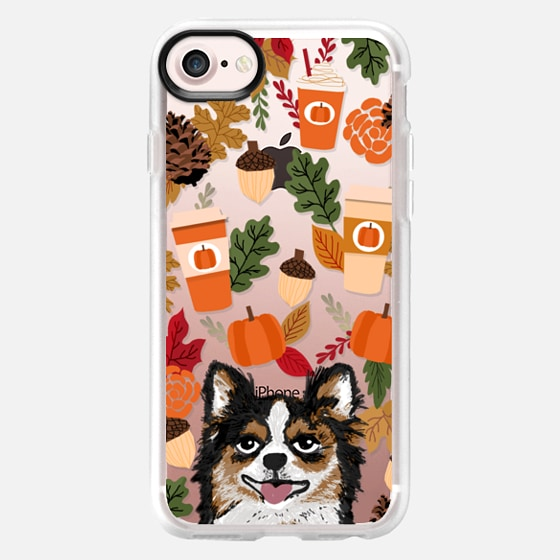 chihuahua long haired chihuahua owner must have gifts for winter fall autumn pumpkin spice latte - Wallet Case