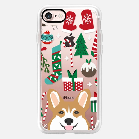 corgis christmas cell phone transparent clear case for new ...