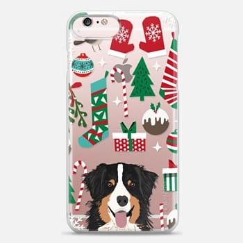 iphone 6s plus case australian shepherd black and tan coat color christmas cell phone transparent case