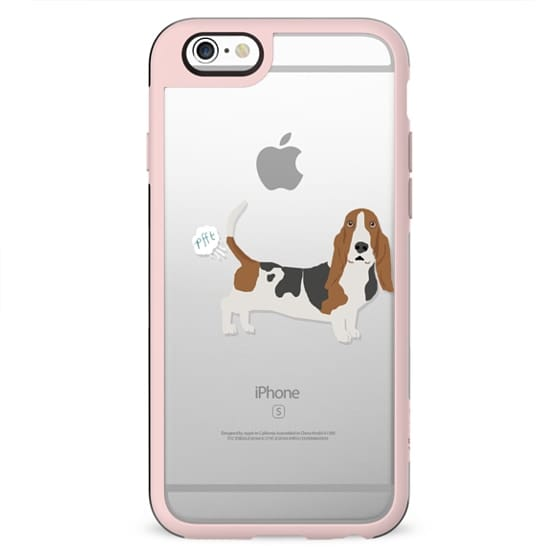 Basset Hound clear case dog fart funny tech accessories pure breed dog lover