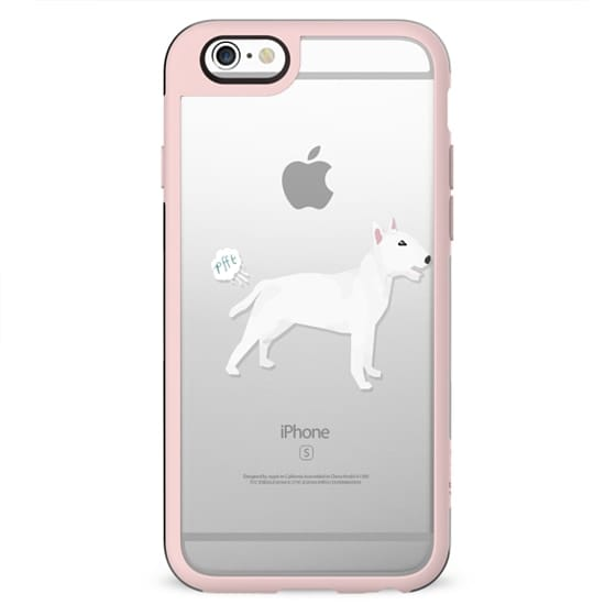 Bull Terrier clear case dog fart funny tech accessories pure breed dog lover