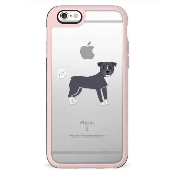 Pitbull dog breed clear case pupper fart cute funny gifts for pure breed dog lovers