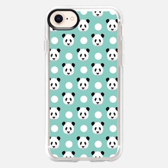 Panda polka dots mint black and white panda love iphone6 cell phone case pet friendly - Snap Case