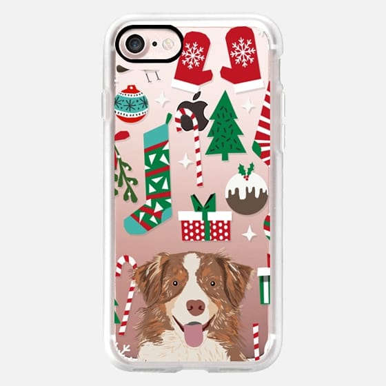 australian shepherd lovers christmas gifts christmas tree stocking candy canes -