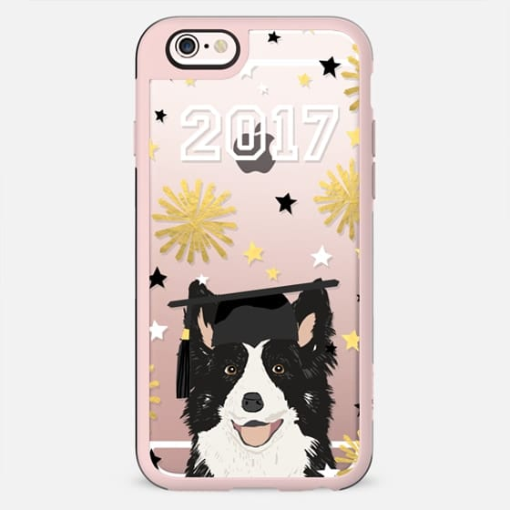 Border Collie dog breed clear transparent cell phone case graduation 2017 gifts - New Standard Case