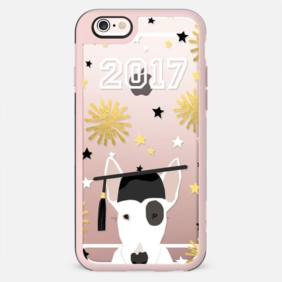 Bull Terrier dog breed clear transparent cell phone case graduation 2017 gifts