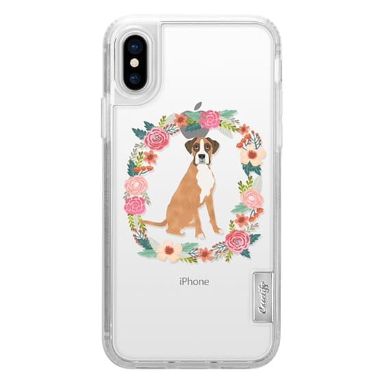 iPhone 6s Cases - boxer floral wreath clear case new iphone dog lover pet friendly