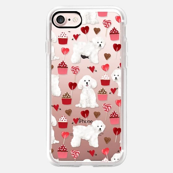 Bichon Frise valentines day cupcakes pattern phone case tech accessories for dog lovers dog breeds