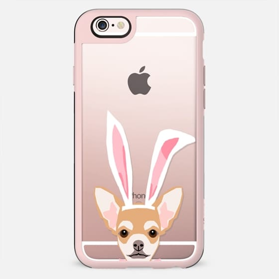 Chihuahua clear transparent cell phone case for easter holiday bunny ears dog costume dog breeds