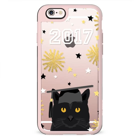 Black Cat clear cell phone case tech accessories graduation 2017 gifts by pet friendly