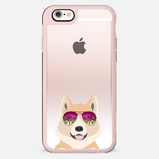 Akita summer sunglasses clear case ombre pet portrait dog breed dogs - New Standard Case